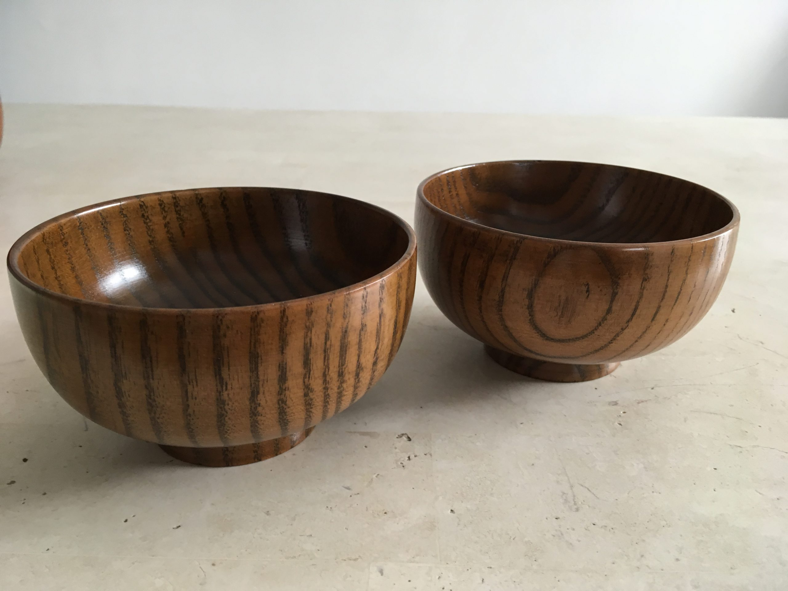 Wooden Lacquerware Bowl (Grain, in pairs)